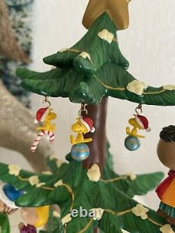 Danbury Mint Peanuts Musical Christmas Tree Charlie Brown Snoopy Rare Mint Cond