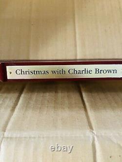 Danbury Mint Peanuts Snoopy Noël Avec Charlie Brown Porte Plaque Panoramique