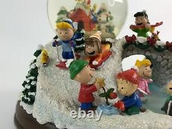 Danbury Mint Peanuts Ultimate Winter Christmas Snow Globe Charlie Brown Snoopy Snoopy