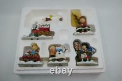Danbury Monnaie Peanuts Train De Noël 5 Pc Snoopy Charlie Brown Lucy Woodstock