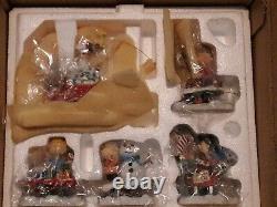 Danbury Monnaie Peanuts-snoopy Noël 5pc Train Figurine Charlie Brown Set Nos
