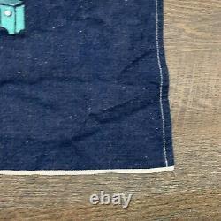 Denim Shop Apron Vtg 60s-70s Bleu Selvedge Jean Vêtements De Travail Charlie Brown Snoopy