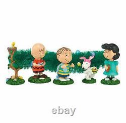 Département 56 Arachides Snoopy Charlie Brown Easter Egg Hunt 6 Piece Figurine Set