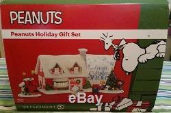Dept 56 Arachides Vacances Coffret Cadeau Snoopy Lucy Charlie Brown Christmas Nouveau 4051627