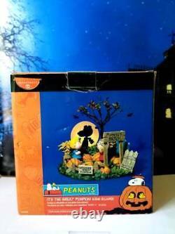 Dept 56 Peanuts Halloween C'est Le Meilleur Pumpkin! Snoopy, Linus, Charlie Brown
