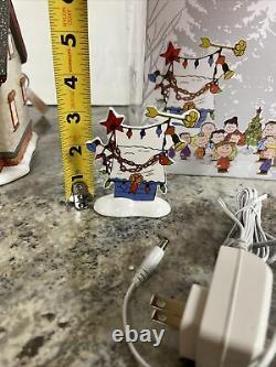 Dept 56 Peanuts House Gift Set Snoopy Lucy Charlie Brown Lane De Noël Nouveau