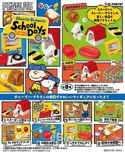 École De Re-ment Miniature Peanuts Snoopy Charlie Brown Jours Set Complet 8 Pièces