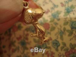 Enchanteur, Crafted 9ct Or Finement Charlie Brown Snoopy Dog Pendentif / Breloque