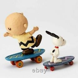 Enesco Jim Shore Figur 40054080 Skateboard Buddies The Peanuts Skulptur