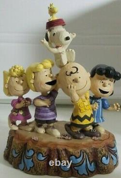 Enesco Peanuts Jim Shore Hourra! Figurine Snoopy Charlie Brown 2015 #4044685