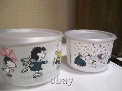Ensemble De Conserves De Vacances Tupperware Edition Limitée Charlie Brown Peanuts, Snoopy