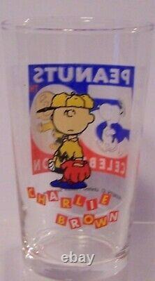 Ensemble De Verre Snoopy 50ème Anniversaire Peanuts Sasaki Charlie Brown Lucy Linus Japon
