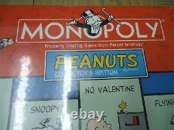 Factory Sealed Peanuts Monopoly Jeu De Société-pleine Taille-snoopy-charlie Brown-linus