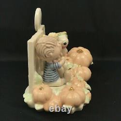 Figurine D'arachides Lenox La Grande Citrouille Snoopy Linus Sally 406573 + Boîte