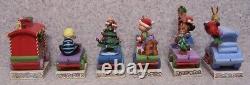 Figurine Peanuts Noël Snoopy Six 6 Pièces Train Jim Shore Nouveau Avec Des Boîtes Cadeaux