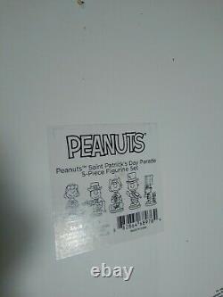 Figurines De Lenox Peanuts St. Patrick Day I Irlandais Charlie Brown Snoopy Lucy 5 Pc