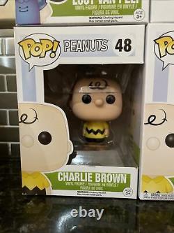 Funko Pop Lot Set Peanuts Snoopy Charlie Brown Lucy Sally Linus Menthe Poivrée Olaf