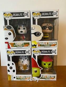 Funko Pop Peanuts Halloween Charlie Brown, Snoopy, Ghost Charlie Brown, Lucy Htf