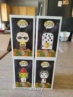 Funko Pop Peanuts Halloween Great Pumpkin 50e Anniversaire Set Lucy Fantôme Snoopy