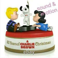 Hallmark Peanuts 50e Anniversaire Charlie Brown Ornement Snoopy Noël Rare