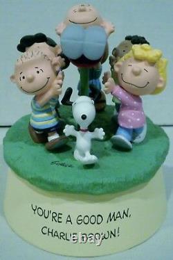 Hallmark Peanuts Snoopy & Gang Youre A Good Man Charlie Brown Figurine Musicale