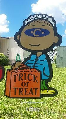 Halloween Grande Citrouille Combo Cour Snoopy Avec Charlie Brown, Lucy Décorations