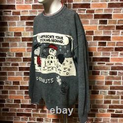 Iceberg Charlie Brown Knit Big Logo Snoopy Gray Taille M