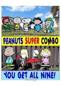 Jardin En Plein Air Charlie Brown Et Lucy Combo Lawn Snoopy Yard Art Décor Art