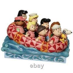 Jim Shore Peanuts Gang Rafting Charlie Brown Snoopy Figurine New2021 #6007934