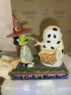 Jim Shore Peanuts Halloween Charlie Brown Ghost Lucy Sorcière J'ai Un Rock 6002775
