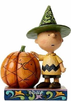Jim Shore Peanuts Snoopy Son Halloween Charlie Brown Statue 4045889 Nouveau Rare