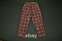 Lazy Oaf Pour Femmes X Peanuts Pantalons Taille 8 Snoopy Charlie Brown Woodstock Plaid