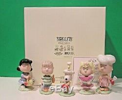 Lenox Arachides Barbecue Set Nouveau N Box Withcoa Snoopy Linus Lucy Sally Charlie Brown