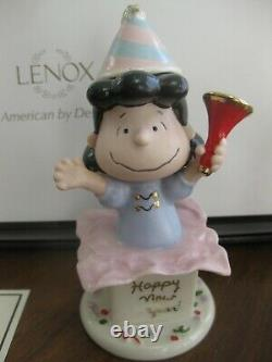 Lenox Le Peanuts Gang Bonne Année Ensemble Linus Lucy Charlie Brown Snoopy Sally +