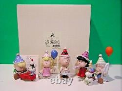 Lenox Peanuts Birthday Party Snoopy Linus Lucy Sally Charlie Brown Nouvelle Boîte Aveccoa