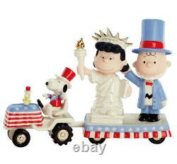 Lenox Peanuts C'est Independence Day Snoopy Charlie Brown Lucy Figurine Set New