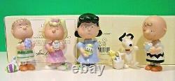 Lenox Peanuts C'est La Pâques Beagle Charlie Brown Set Nouveau Dans Box Coa Snoopy