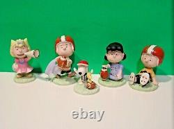 Lenox Peanuts Football Set New N Box Aveccoa Snoopy Linus Lucy Sally Charlie Brown