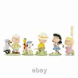 Lenox Peanuts Golf 5 Piece Set Charlie Brown Snoopy Lucy Linus Sally Set Nouveau
