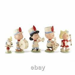 Lenox Peanuts Marching Band Set Charlie Brown Snoopy Lucy Linus Sally Set Nouveau