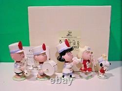 Lenox Peanuts Marching Band Set Snoopy Linus Sally Charlie Brown New N Box Withcoa