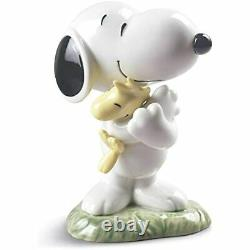 Lladró Nao Peanuts Figurine Snoopy Fine Porcelaine Sculpture Navires À L'échelle Mondiale