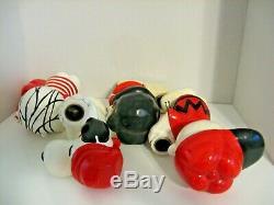 Lot 4 Vintage Bougeoirs Peanuts Snoopy Charlie Brown Lucy Linus Hallmark