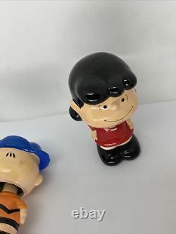 Lot De 3 Vintage Bobblehead Nodders Peanuts Snoopy Joe Cool, Charlie Brown, Lucy