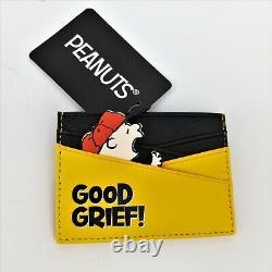 Loungefly Peanuts Charlie Brown Zig Zig Crossbody Sac À Main Et Jeu De Porte-cartes