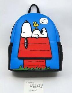 Loungefly Peanuts Snoopy 70e Doghouse Charlie Brown Mini Sac À Dos Bnwt
