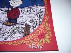 Marq Spusta Écran Print A Charlie Brown Ed Rouge De Noël. Peanuts Snoopy Mint