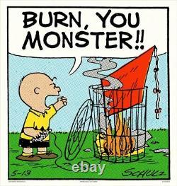 Mondo Peanuts Burn Monster Snoopy Art Print Charles Schulz Affiche Charlie Brown