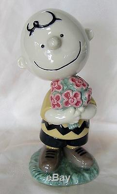 Nao Par Charlie Snoopy Lladro Brown # 532 Marque Nib Arachides Grand Épargnez $ F / Sh