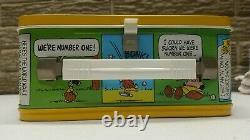Nouveau Arachides Métal Lunch Box Vintage Witho Thermos Snoopy & Charlie Brown Jaune